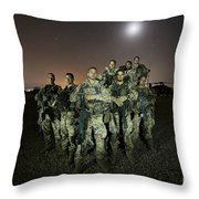 German Army Crew Poses Throw Pillow
