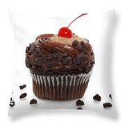 German Chocolate Cupcake Throw Pillow