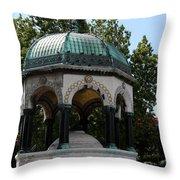 German Fountain - Istanbul Throw Pillow
