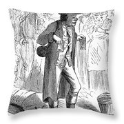 German Immigrant, 1871 Throw Pillow