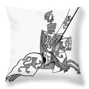 German Knight Throw Pillow