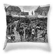 German Market, C1890 Throw Pillow