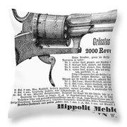 German Revolver, 1880 Throw Pillow