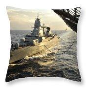 German Sachsen-class Frigate Hessen Throw Pillow