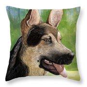 German Shepard Puppy Throw Pillow