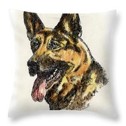 German-shepherd-portrait Throw Pillow