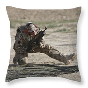 German Soldier Armed With An Akm Throw Pillow