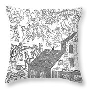 German Soldiers, 1650 Throw Pillow