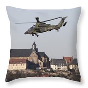 German Tiger Eurocopter Flying Throw Pillow
