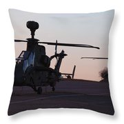 German Tiger Eurocopters At Stendal Throw Pillow