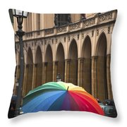 German Umbrella Throw Pillow
