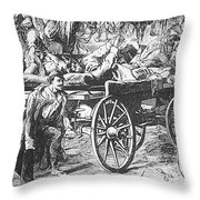 Germany: Seven Weeks War Throw Pillow