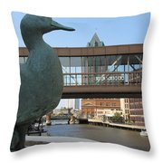 Gertie The Duck Throw Pillow