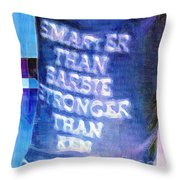 Get Off Our Backs Throw Pillow