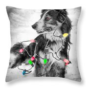 Get The Lights Out Throw Pillow