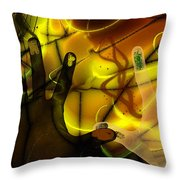 Get Together - Fingerpainting Throw Pillow