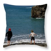 Get Your Feet Wet Throw Pillow