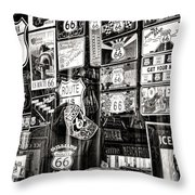 Get Your Kicks On Route 66 II Throw Pillow