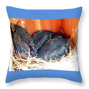 Getting Crowded Throw Pillow