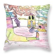 Getting Ready To Scare Throw Pillow