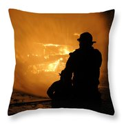 Getting The Job Done Throw Pillow