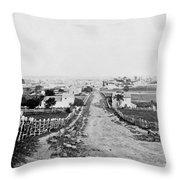 Gettysburg Battlefield - Vintage C 1870 Throw Pillow
