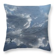 Geyser Basin Cloud Reflection Throw Pillow
