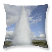 Geyser Erupting 20 Meters High Every 8 Throw Pillow