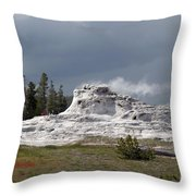 Geyser In Yellowstone Throw Pillow