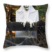 Ghost At The Gate Throw Pillow