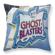 Ghost Blasters Throw Pillow
