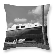 Ghost Crab Boat Throw Pillow