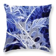 Ghost Leaves Throw Pillow