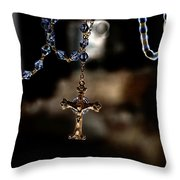Ghost Of A Rosary Throw Pillow