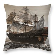 Ghost Ship Of The Cape Throw Pillow by Lourry Legarde