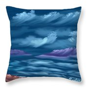 Ghost Sisters Cove Throw Pillow