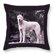 Ghost The Wolf Throw Pillow