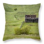 Ghost Town Galilee Saskatchewan Throw Pillow