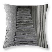 Ghost Town Stairs Bodie California Throw Pillow