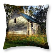 Ghosting Weeds Throw Pillow