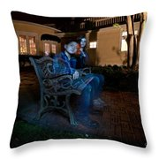 Ghostly Cousins Throw Pillow