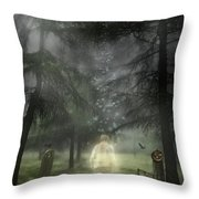 Ghostly Gentleman Throw Pillow