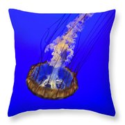 Ghostly Jellyfish Throw Pillow