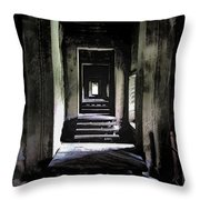 Ghostly Passage Throw Pillow