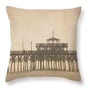Ghostly Pier Throw Pillow