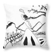 Ghosts 1 Throw Pillow