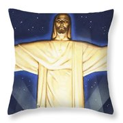 Giant Figure Of Christ Throw Pillow
