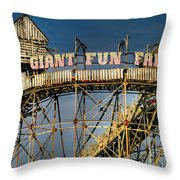 Giant Fun Fair Throw Pillow