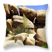 Giant Rocks Throw Pillow