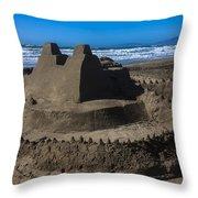 Giant Sand Castle Throw Pillow